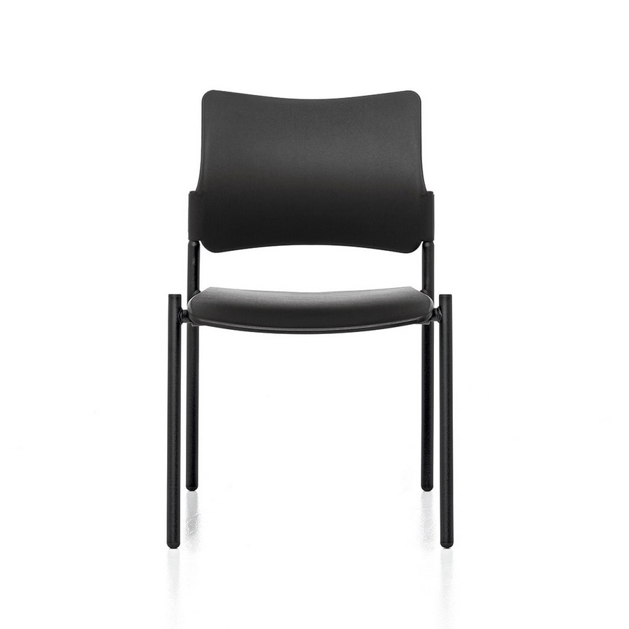 Urban Plastic 01, Stackable steel chair, seat and back in polypropylene
