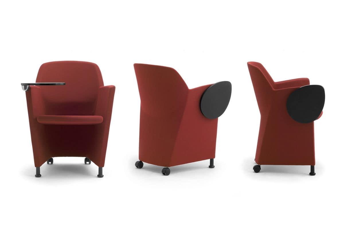 Viviana, Tub armchair with flame-retardant upholstery