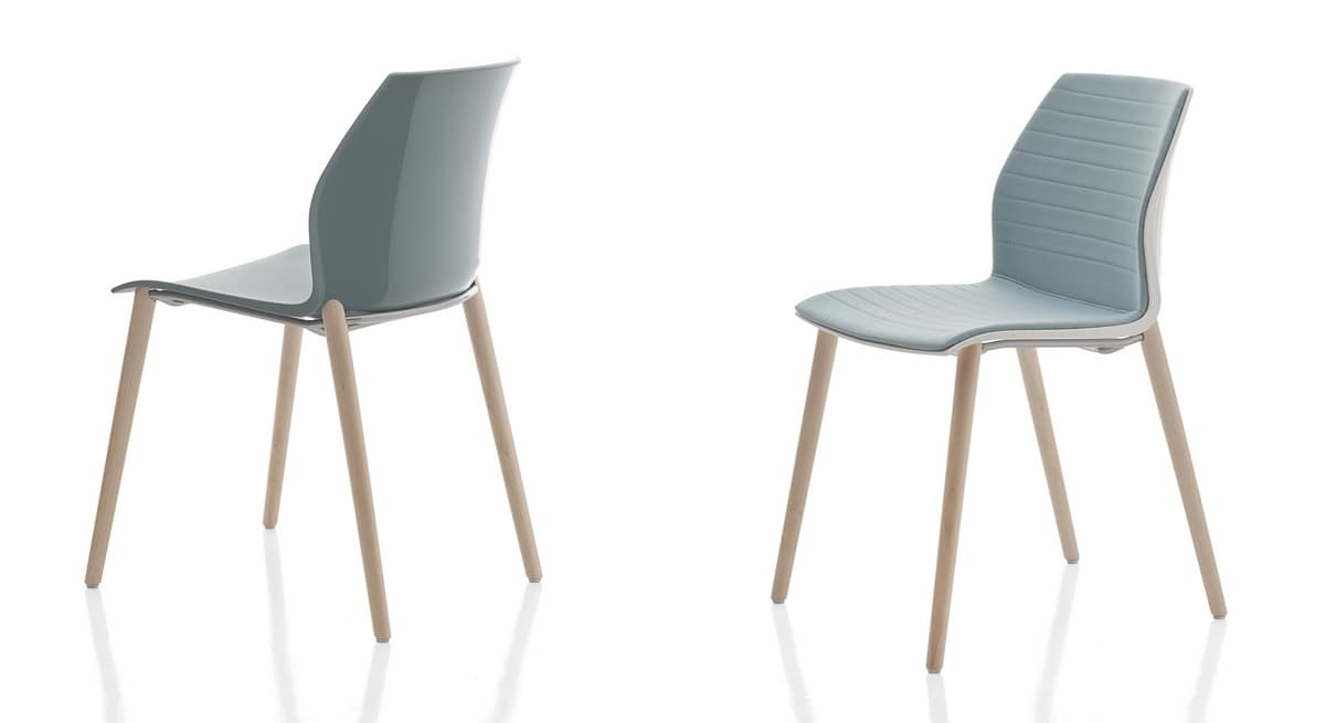 Kalea, Stackable chair in various colors, for Congress Hall