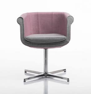 Liz 4 feets, Chair for meetings, swivel, aluminum base
