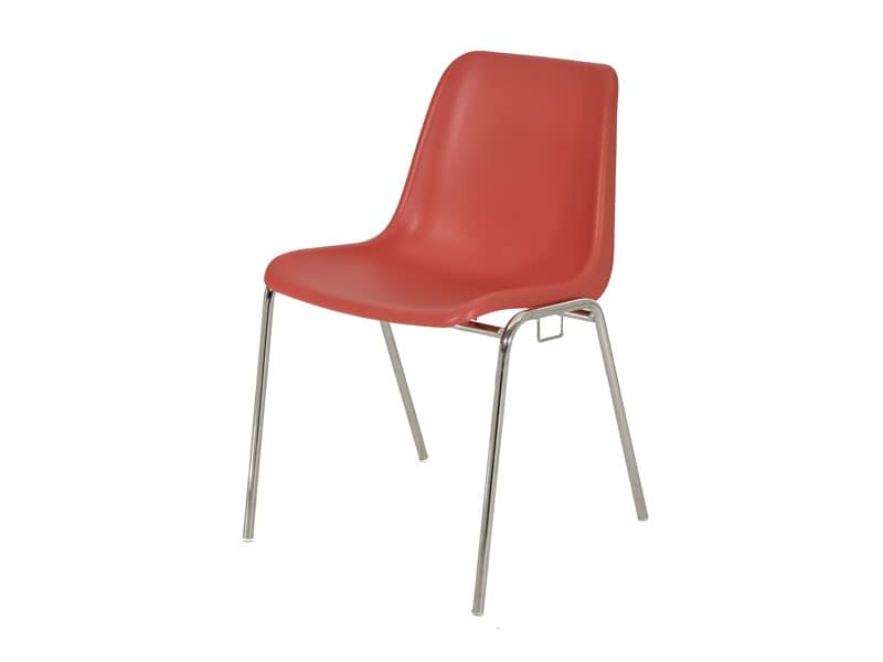 SE 039, Stackable chair in metal and plastic for conference rooms
