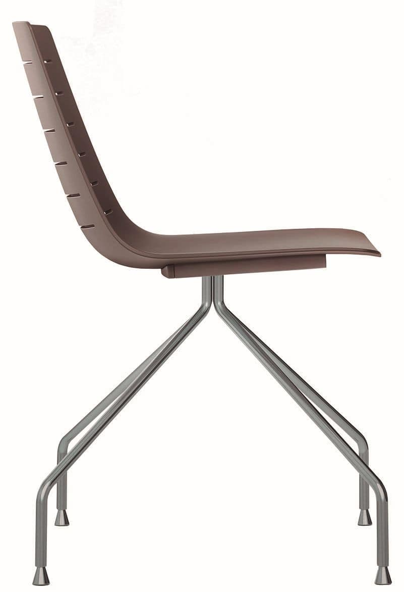 Slim 03, Metal and plastic chair ideal for meeting rooms