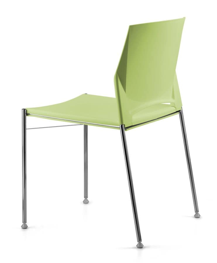 TREK 035, Stackable conference chair with metal base