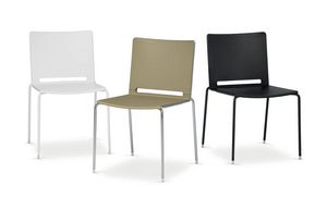 UF 170, Padded chair in metal and plastic, in different colors