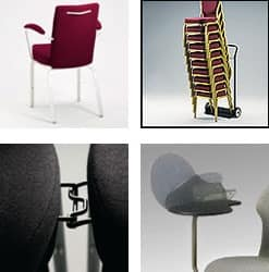 Vario-Allday 21/4A, Conference modern chair, stackable, anatomic seat