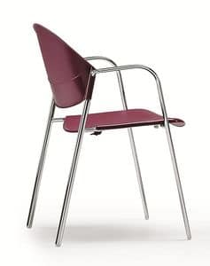 DELFI 085, Stackable chair with seat and back in copolymer