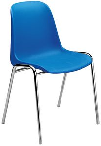 Elena, Chair with polypropylene seat, for multipurpose rooms