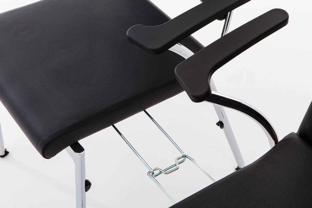 Evosa Congress 08/4A, Very light chair with metal base, with coupling system, for meetings and conferences