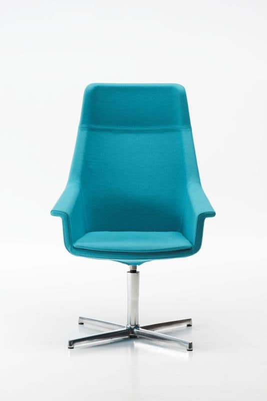 High Dama 4 races, Chair with 4-star base, padded, for meeting room