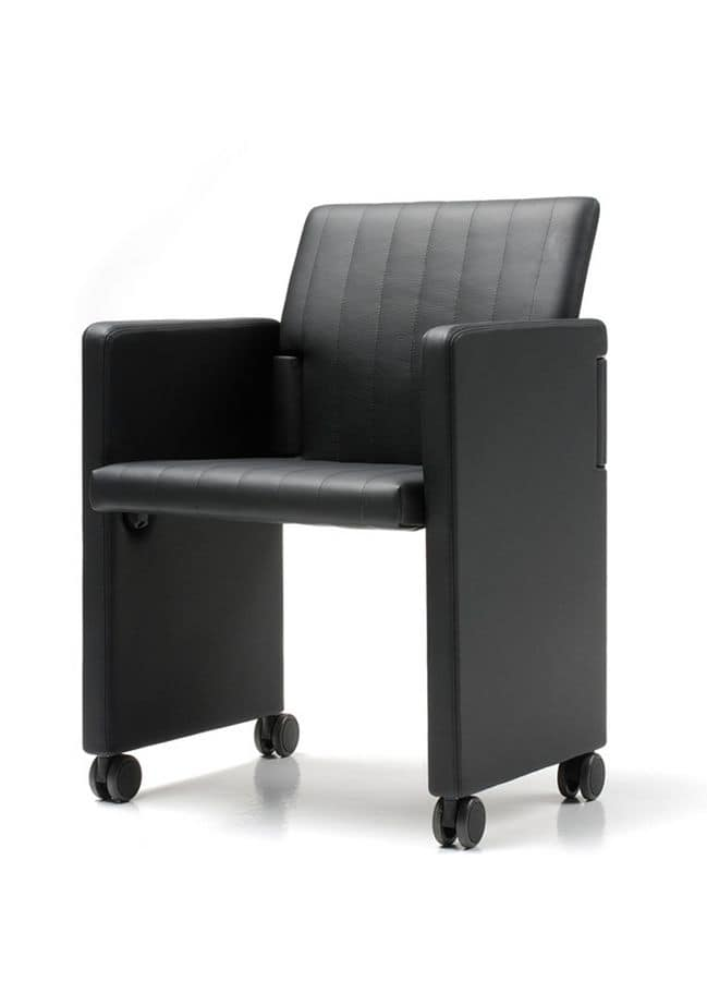 folding chair for conference rooms base with wheels idfdesign