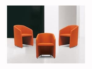 Tronix, Enveloping tub armchair, internal steel frame