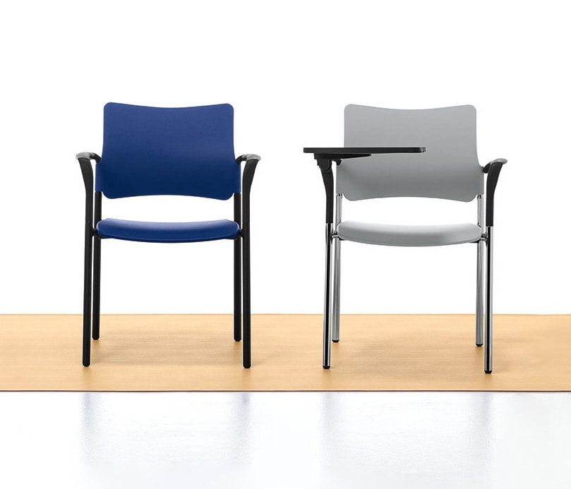 Urban Plastic 02, Stackable chair in metal and polypropylene, for meeting room