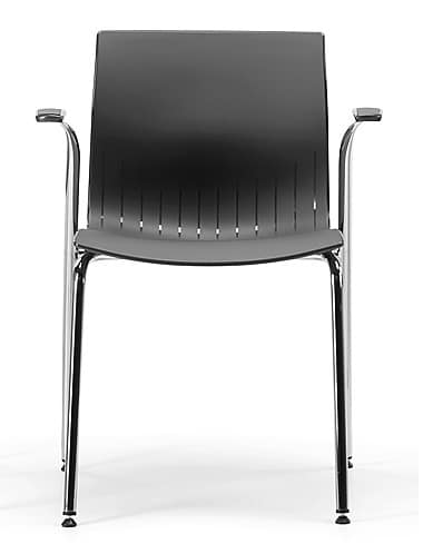 WEBBY 338, Chair with armrests, plastic shell, for conferences