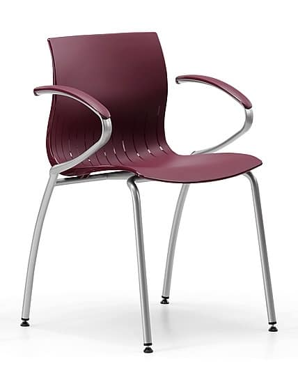 WEBBY 339, Metal chair with nylon shell, in various colors