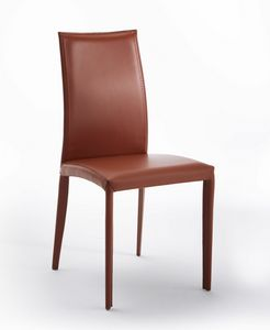 Aisha, Leather chair with ornamental holes