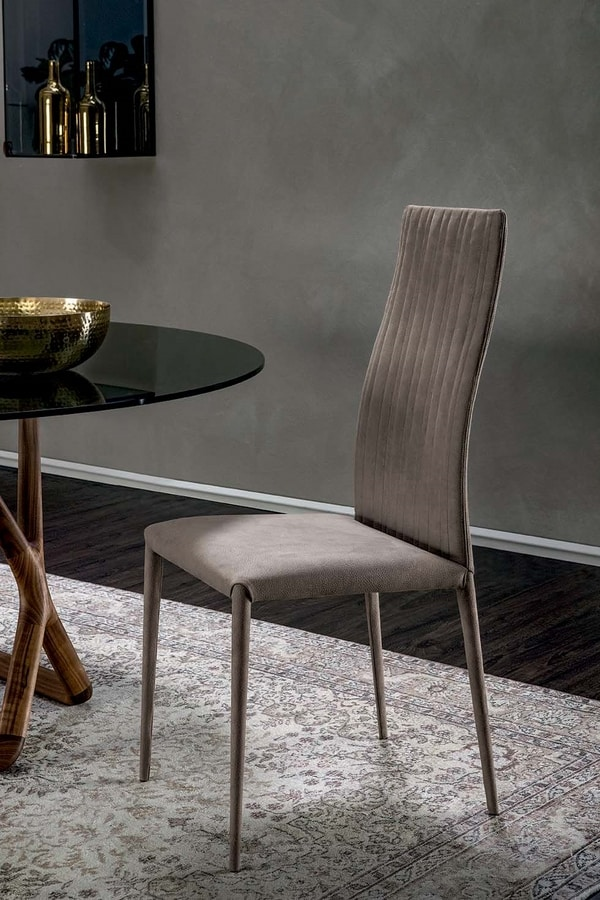 JOSEFINE, Chair with leather upholstery