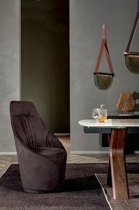 MAMA  chair, Chair entirely covered in leather or eco-leather