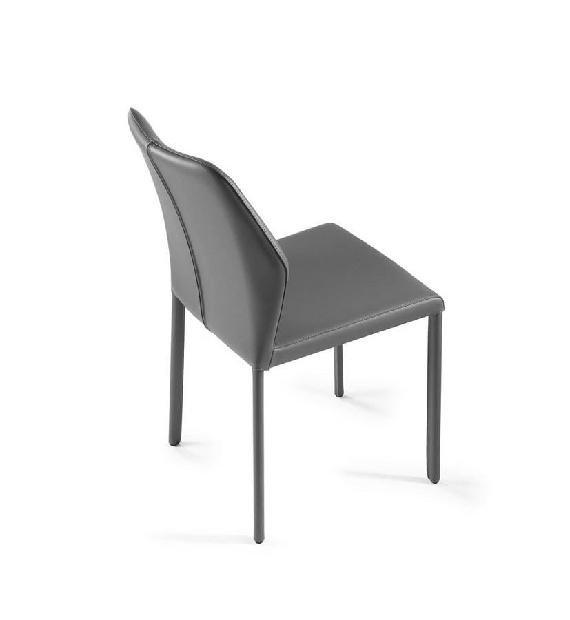 Mirò, Chair with hexagonal shaped back