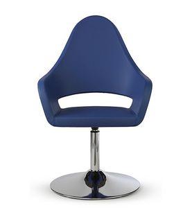 NUBIA 2301, Leather chair on chrome base