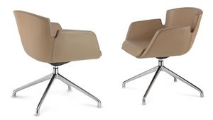 NUBIA 2906, Swivel leather chair