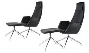 NUBIA 2926, Leather chair with high back