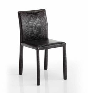 Sissi, Chair upholstered in leather