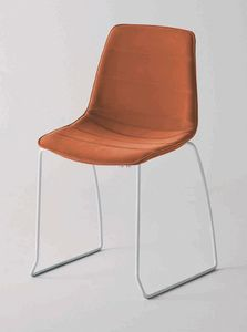 Alhambra S dress, Upholstered chair, sled base