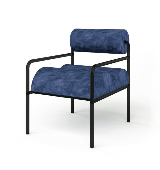 Aliko, Chair with upholstered seat