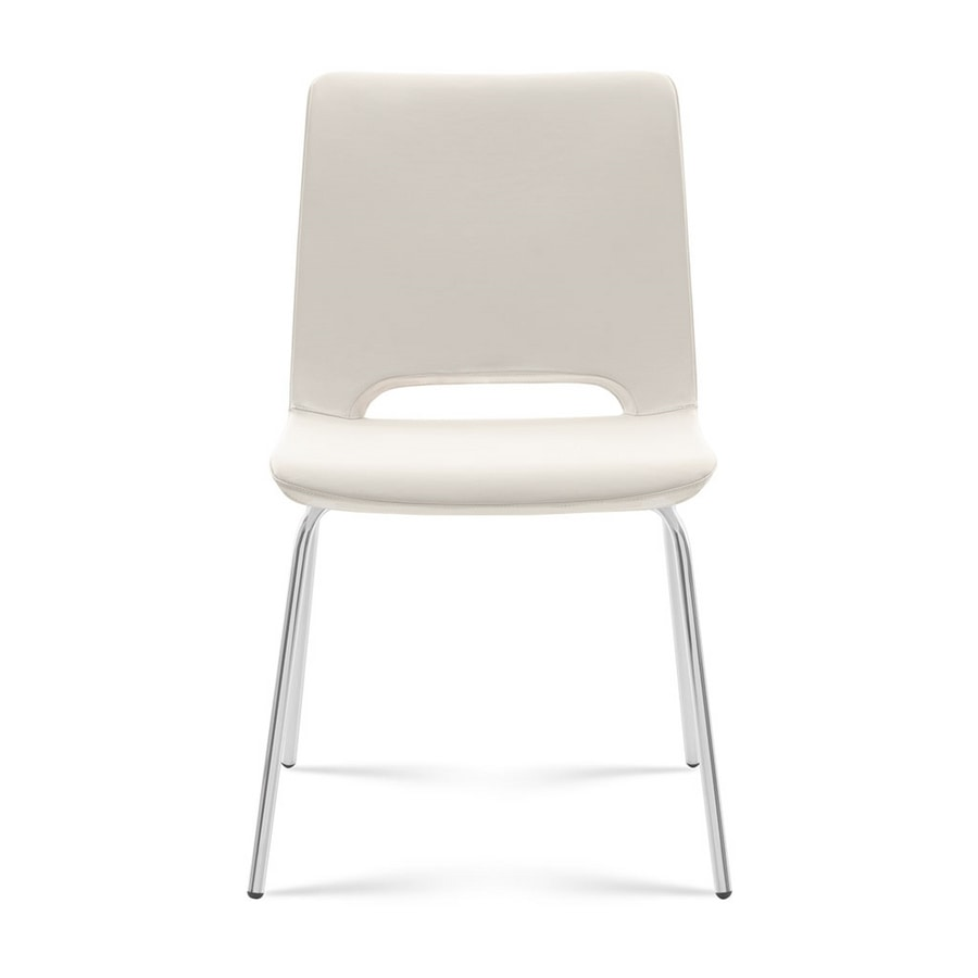 Angy open, Upholstered chair, metal base