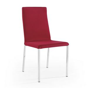 Ares removable upholstery chromed, Removable chair, ideal for restaurants and bars