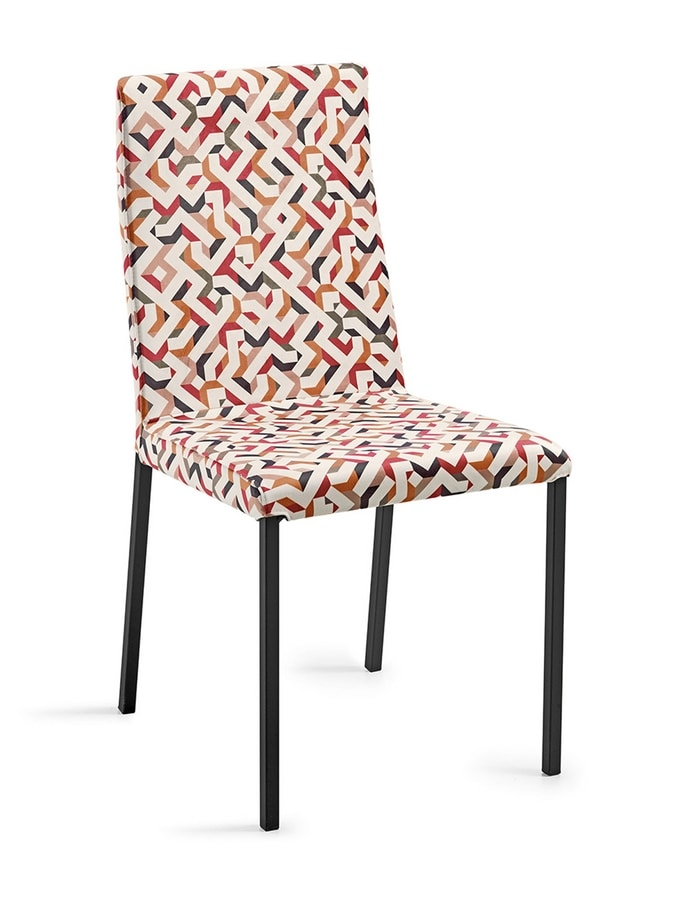 Ares removable upholstery varnished, Varnished chair, with removable cover