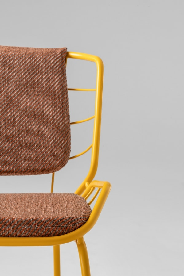 ART. 0084-MET SKIN, Metal chair, with padding