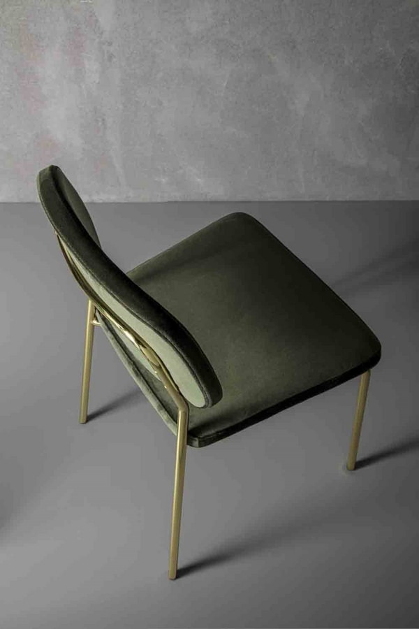 Art. 217 Ginger, Essential style chair in stain-resistant fabric