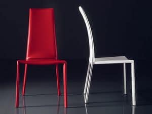 ART. 235 FIREFLY, Chair with padded leather seat, high back, for bars