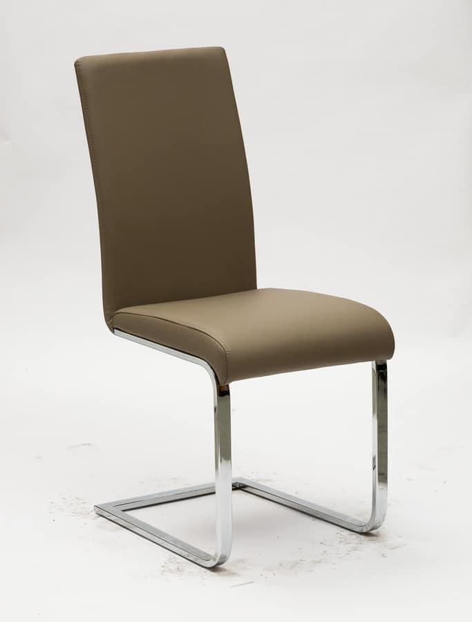 Art. 299 Kant, Chair with metal cantilever base, padded