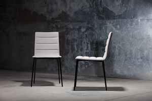 ART. 303 CELINE, Metal chair for restaurants, with padded seat