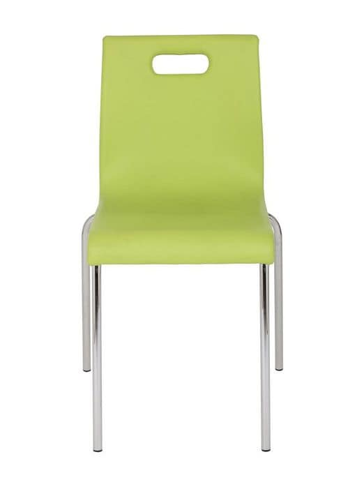 Art.Linz chair, Padded stacking chair for kitchen, bar and restaurant