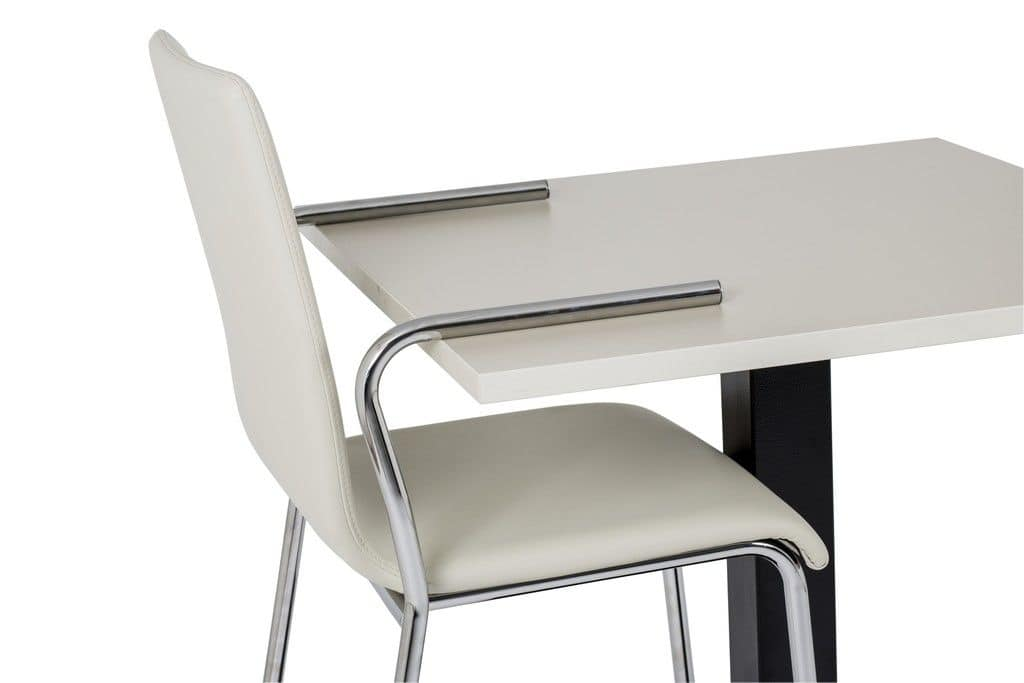 Art.Linz armchaire with arms, Chair with armrests for contract and home use