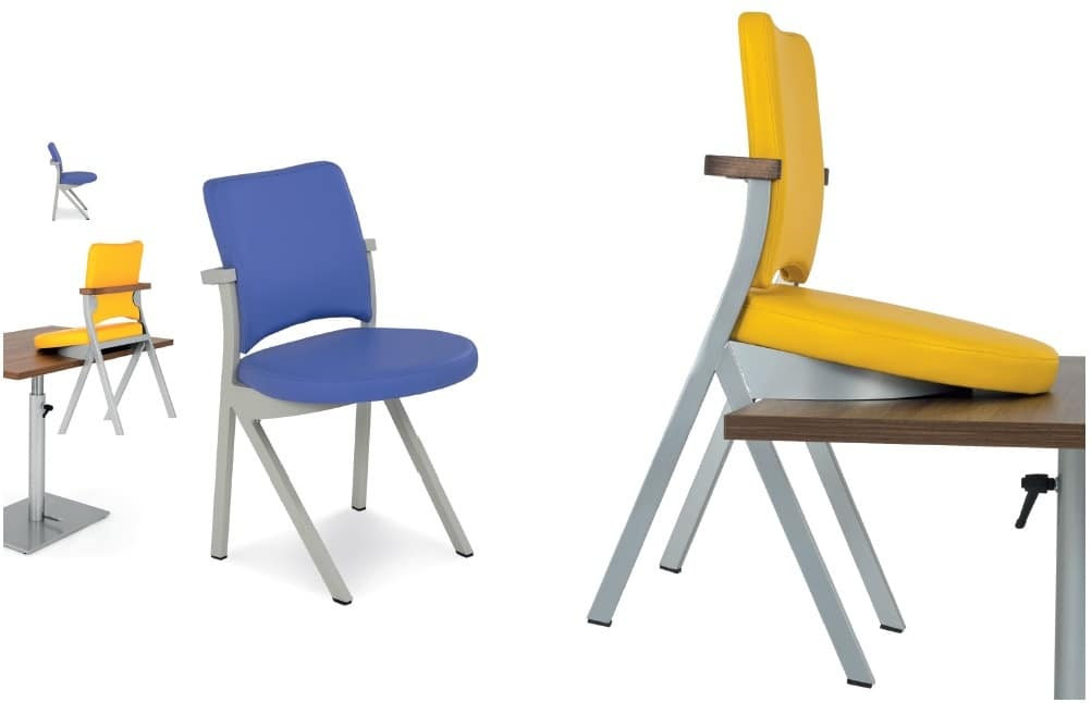 Art.Woox 3, Chair in painted aluminum or iron, customizable
