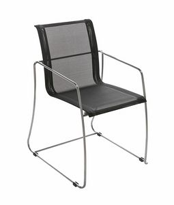 Avalon 5313, Chair with sled base, mesh seat
