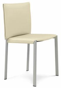 Bilbao chair 10.0120, Metal chair, with leather seat
