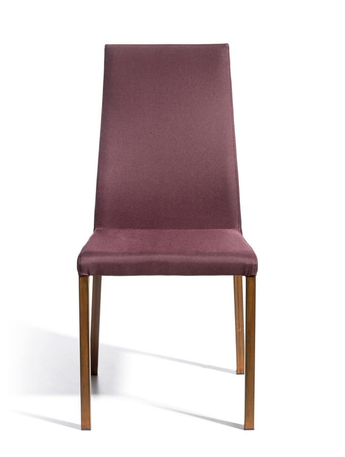 Castelfranco, Modern upholstered chair ideal for bars and kitchens