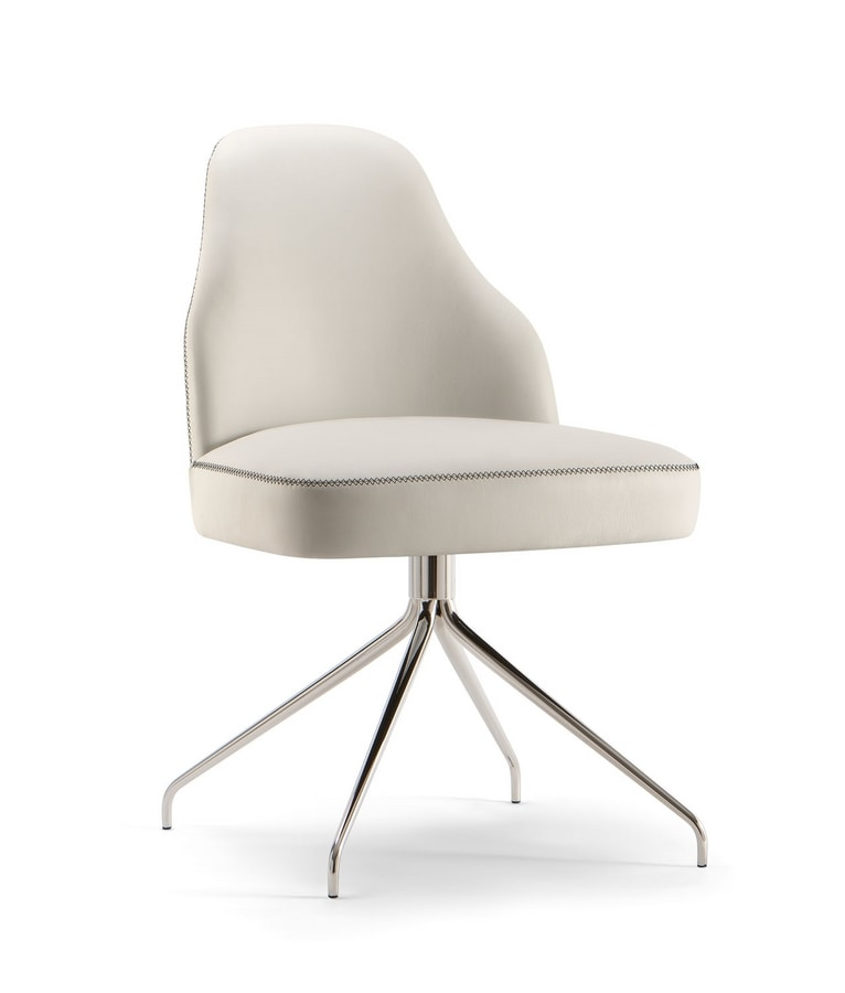 CHICAGO SIDE CHAIR 015 S Z, Modern chair with spider base