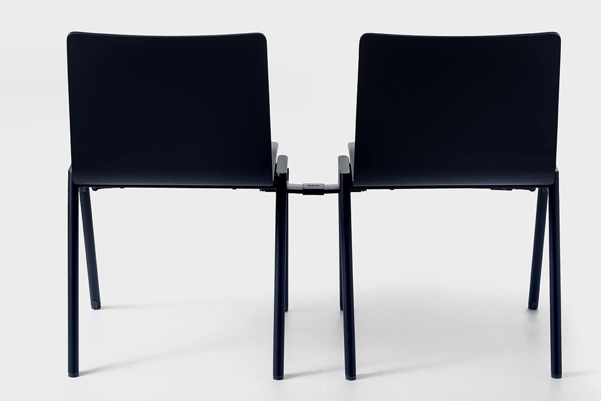 Chromis wood, Modern chair, stackable, for residential environments and bars