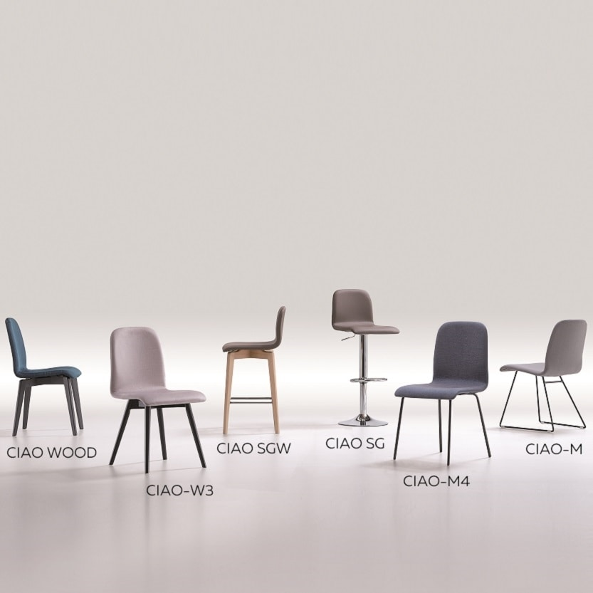 Ciao-M, Metal chair with sled base