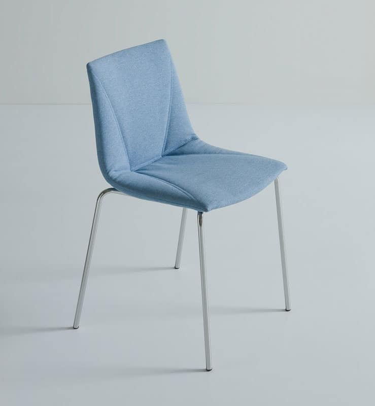 Colorfive UPH NA, Upholstered chair, covered in King fabric, metal base