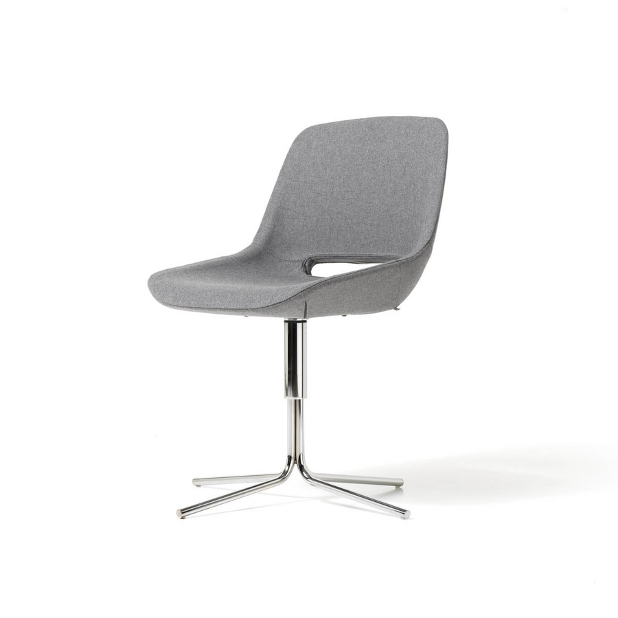 Clea 4 blades, Swivel chair with armrests
