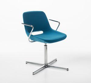 Clea 4 blades self-return mechanism, Chair with automatic return mechanism
