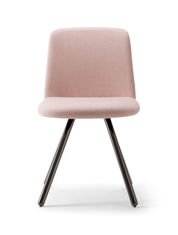 CLOÈ CHAIR 025 SL, Upholstered chair with metal legs