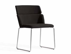 Concord 522UV, Upholstered chair with metal sled base